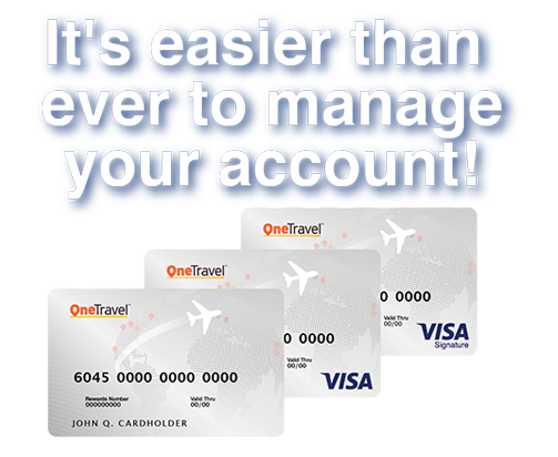 Welcome To The OneTravel Credit Online Account Management Center
